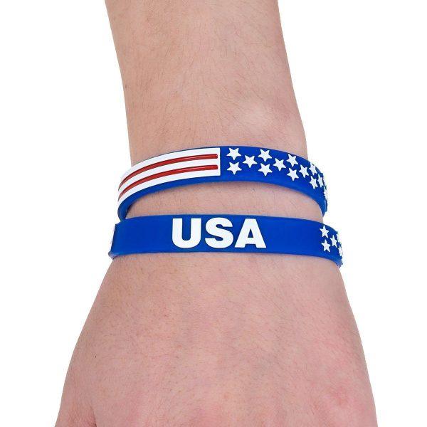 American Flag Wristbands (2)