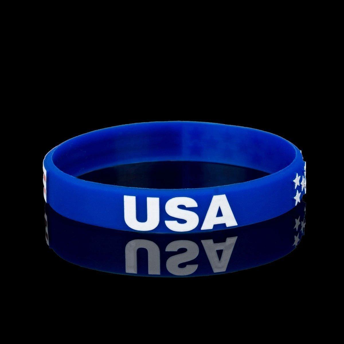 db7ce495db89 American Flag Silicone Wristbands