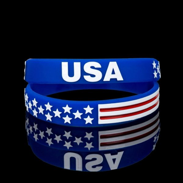 American Flag Wristbands (6)