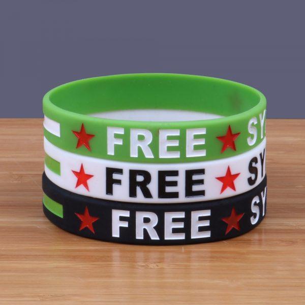 Free Syria Silicone Bracelets (2)
