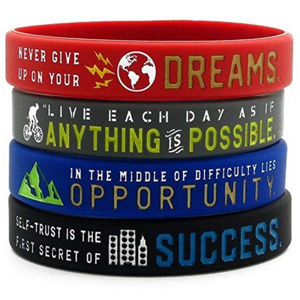 Motivational silicon wristband (4)