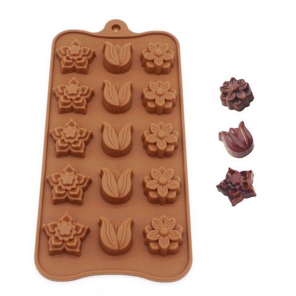 Flower Shape chocolate mold (2)