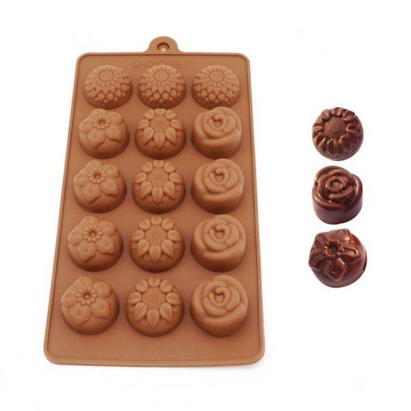 Flower Shape chocolate mold (5)