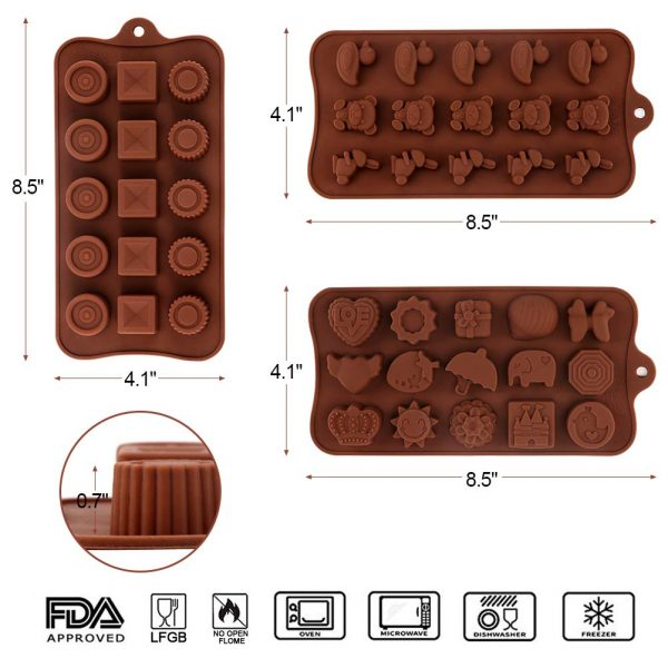 Silicone Chocolate Candy Molds (4)
