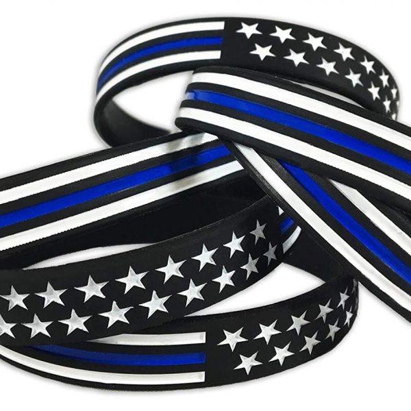 Thin Blue Line American Flag Bracelet (3)