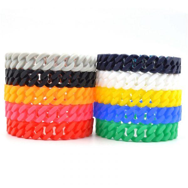 Twisted seattle silicone bracelet (2)