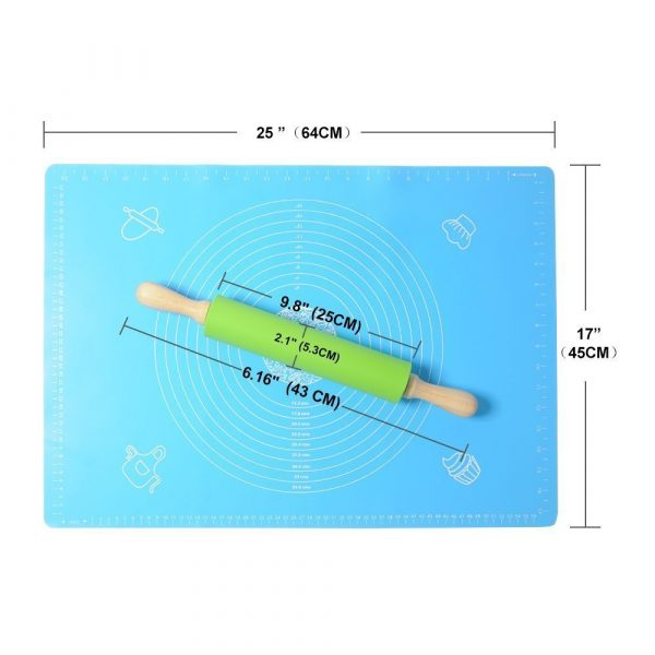 silicone baking mat with Measurements (4)
