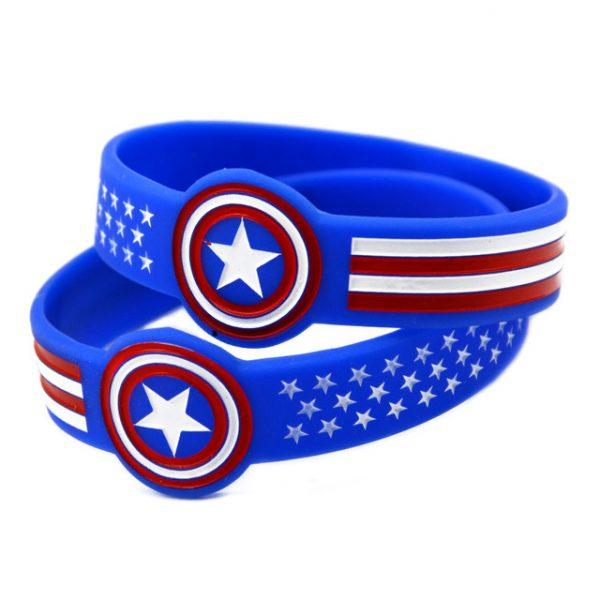 Captain America Silicone Bracelets (2)