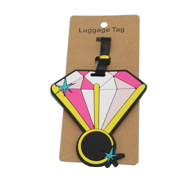 Diamond luggage tag (2)