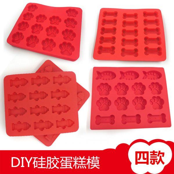 Dog Paw silicone mold (4)