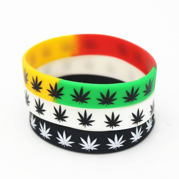 Jamaica weed silicon wristband (3)