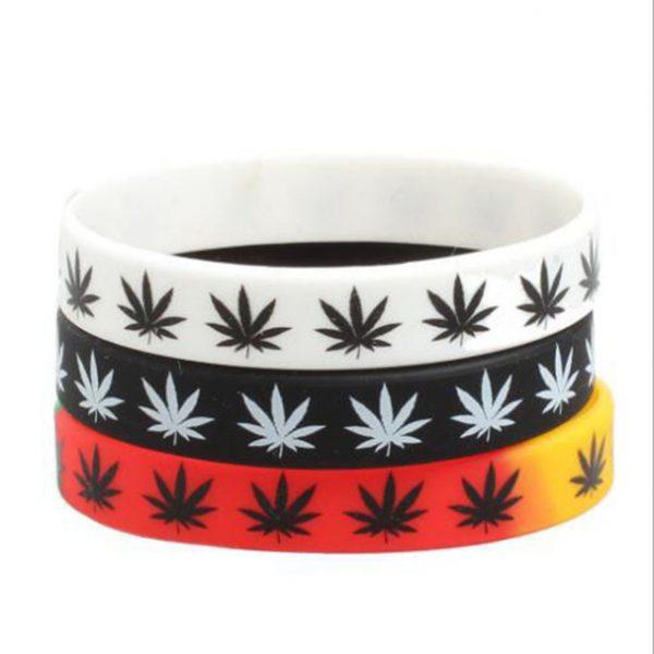 Jamaica weed silicon wristband (4)