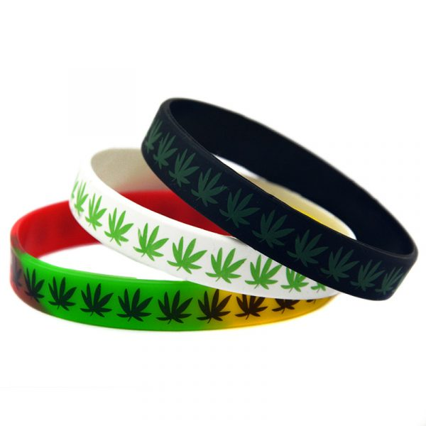 Jamaica weed silicon wristband (5)