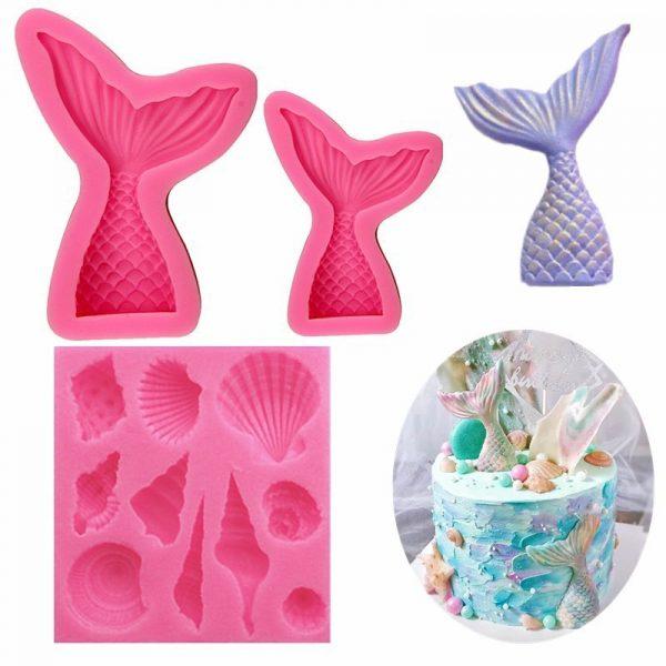 Mermaid silicone mold (2)