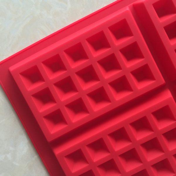 Square Waffle Silicone Mold (1)