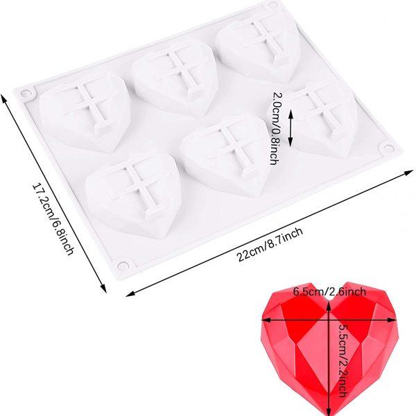 heart silicone mold diamond (5)