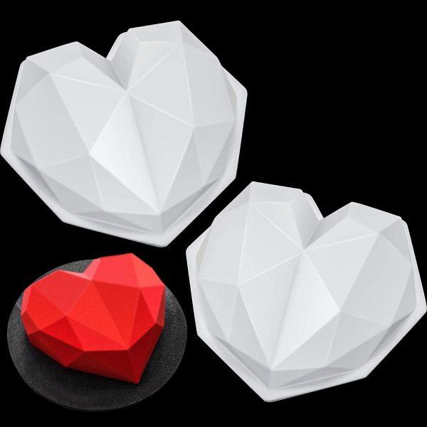 Diamond Heart Chocolate Mold (2)