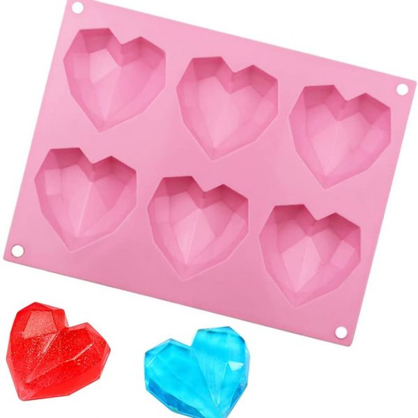 Diamond Heart cake mold (1)