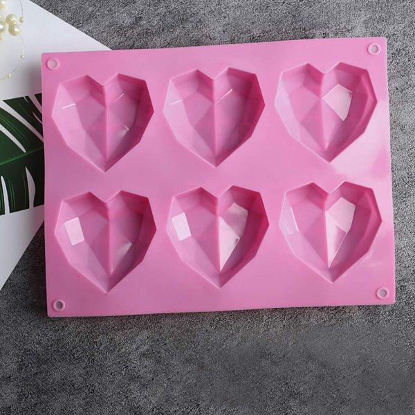 Diamond Heart cake mold (3)